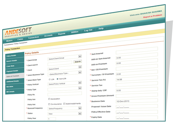 Insurance Policy Bookings System